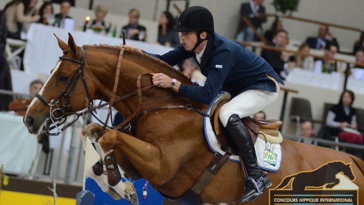Harrie Smolders and Emerald jumping to a second place at Jumping Lummen in Belgium.