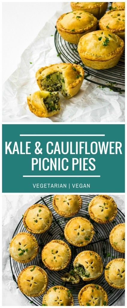 These pretty little Kale Pesto & Cauliflower Picnic Pies are perfect savoury finger food for a buffet lunch or picnic. Made from ingredients in the freezer cabinet, they are vegetarian and vegan.
