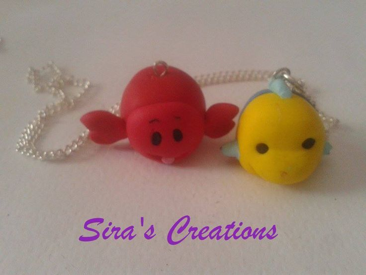 Handmade Ariel's friends :3 Sebastian and Flamber :3 ,soon on etsy ,see more on Instagram or our Facebook ;) ,#fimo #polymerclay #clay #diy #handmade #disneyinspired #disneystyle #disneytsumtsum #tsumtsum #tsumtsuminspired #disney #necklace #jewels #thelittlemermaid #sebastian #flamber #sirascreations