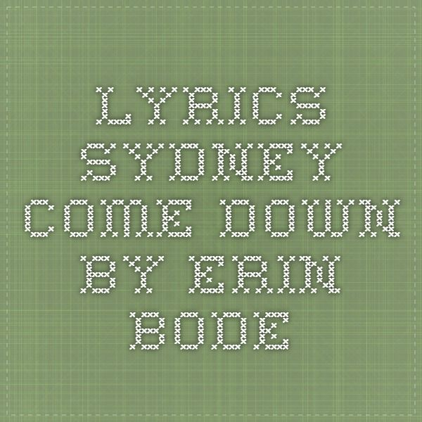 87 best ukulele chords songs and stuff images on pinterest lyrics sydney come down by erin bode fandeluxe Image collections