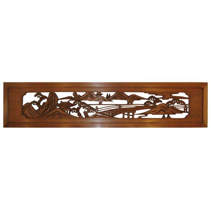 RANMA JAPANESE TRANSOM | Japanese Carved Wood Ranma at 1stdibs