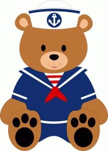 sailor bear boy--------------------------------I think I'm in love with this shape from the Silhouette Online Store!