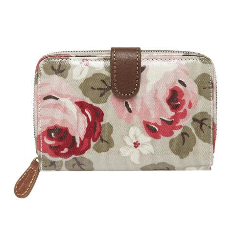 Cath Kidston Aubrey rose folded zip wallet