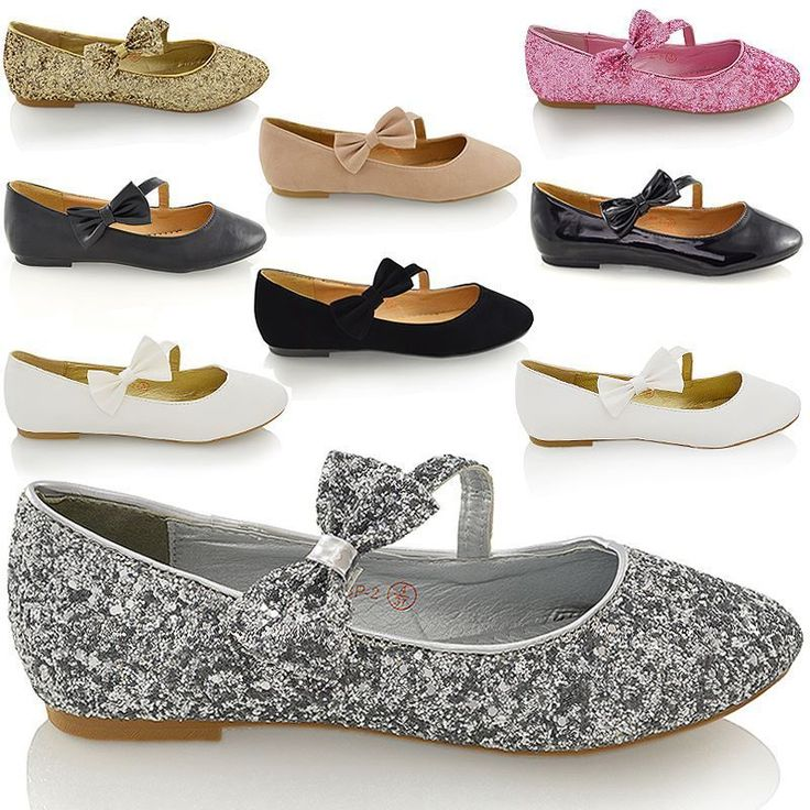 NEW WOMENS PUMPS FLAT BOW GLITTER LADIES BALLET BALLERINA DOLLY BRIDAL SHOES 3-9 | Clothes, Shoes & Accessories, Women's Shoes, Flats | eBay!