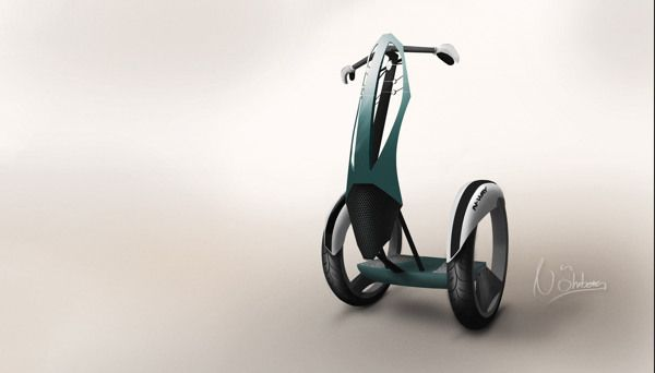 This design concept features a stylish, electric personal transporter.