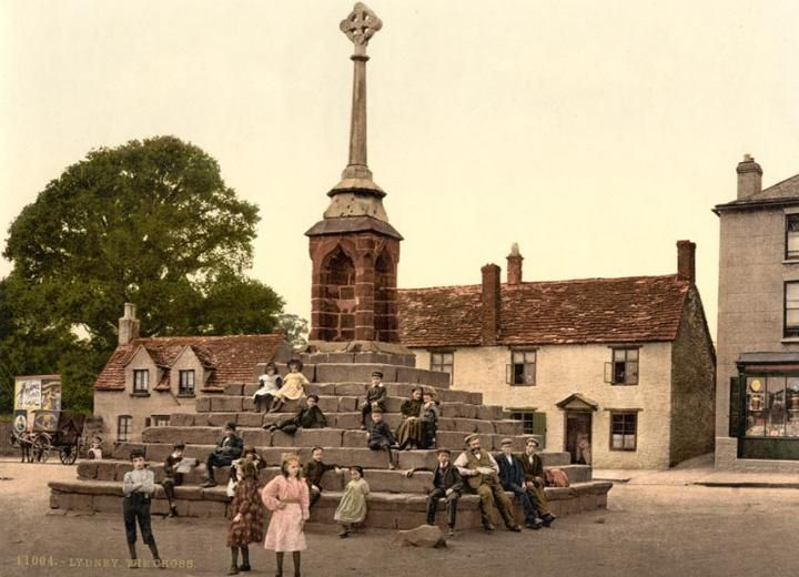 The first colour photographs of England - The cross, Lydney, Gloucestershire