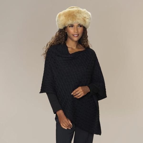 Alpaca fur hat champagne