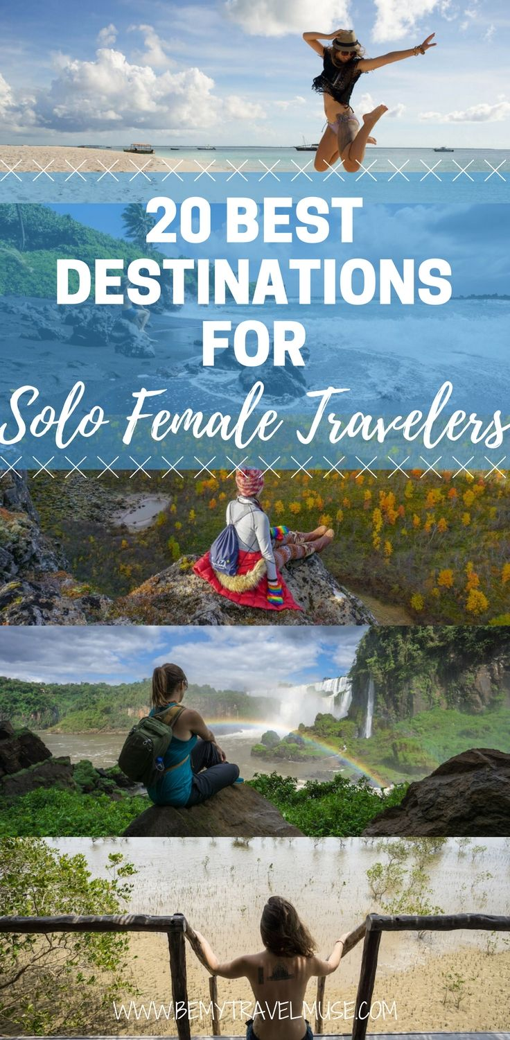 Here are the 20 unexpectedly awesome destinations for solo female travelers that will help you plan your adventures around the world better! First time solo travel tips & ideas | Be My Travel Muse