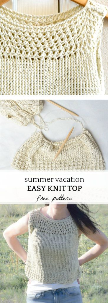 Summer Vacation Knit Top Pattern | Con lanas | Pinterest | Knitting ...