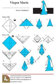 Resultado de imagem para origami de santos