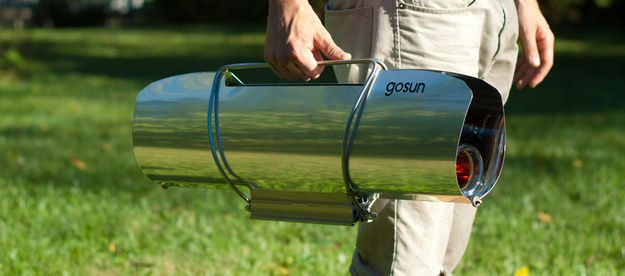 Want to cook in an environmentally friendly way? Buy a Gosun and let the sun heat up your food for you.