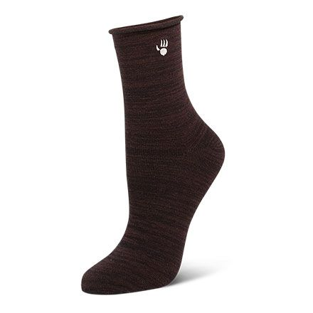 Womens Roll Top Ankle Sock by BEARPAW review color Tan