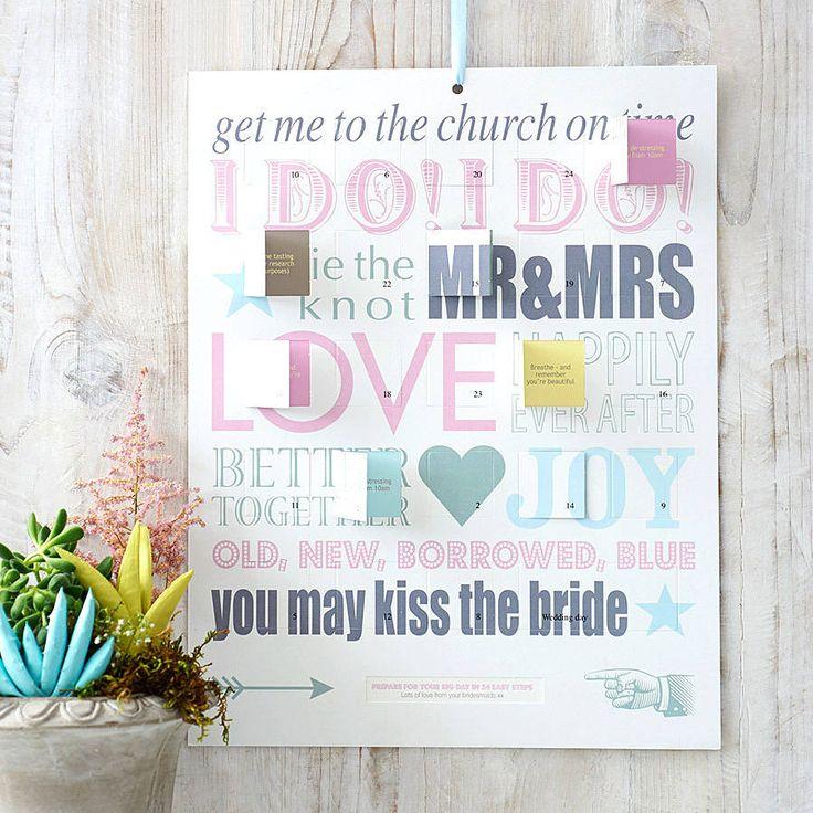 Wedding Countdown Checklist: Best 25+ Wedding Countdown Ideas On Pinterest