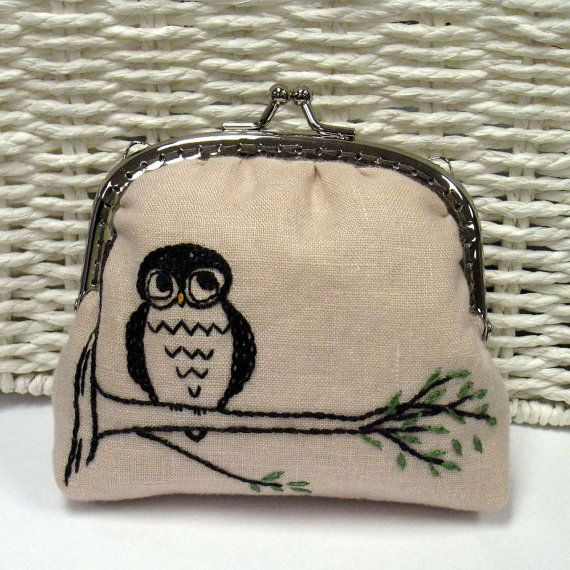 An Evening Owl  Coin Purse PDF Pattern by HanhansStitching on Etsy, $9.00