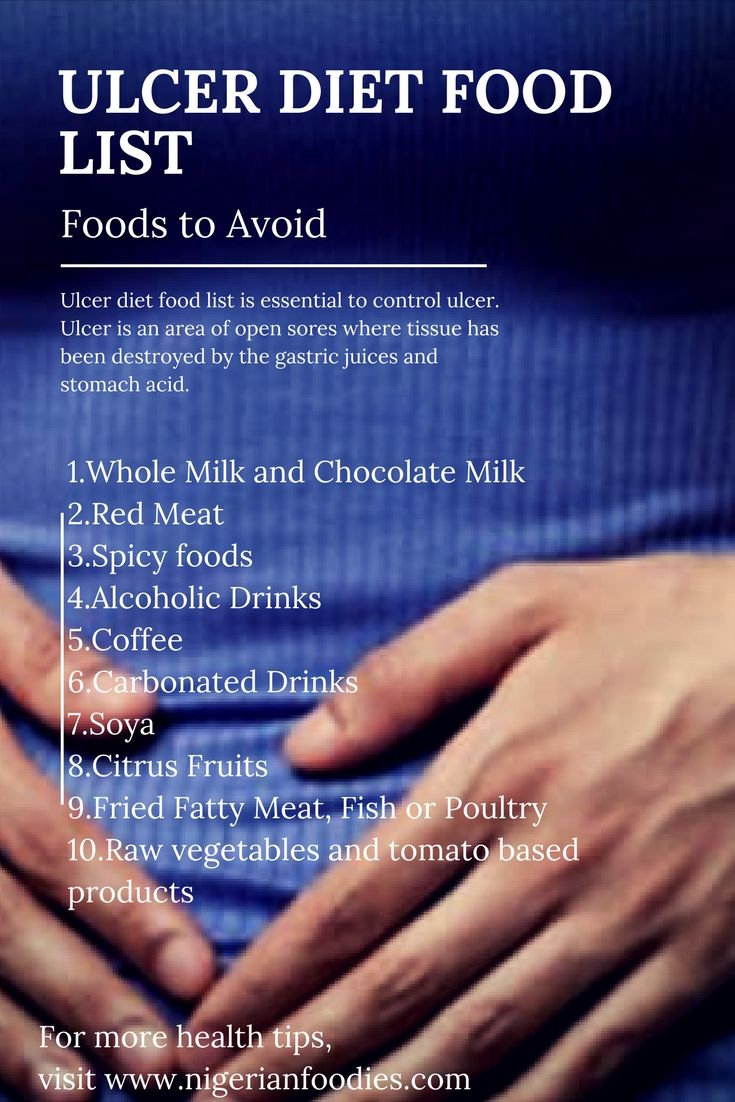 Ulcer Diet Food List ; Foods to AvoidPatricia Lopez