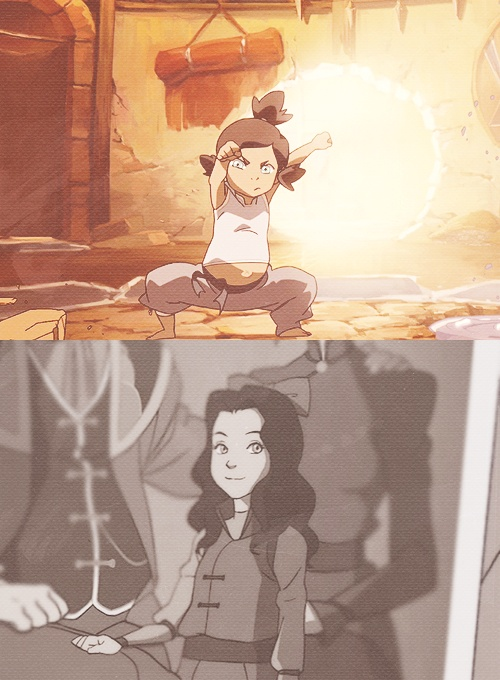 Little Korra and Asami - The Legend of Korra season 1.... wonder if we'll see Little Mako and Bolin in season 2 :)