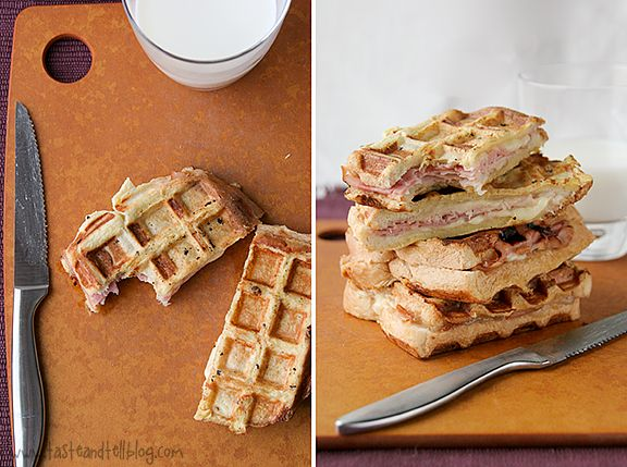 Monte Cristo Waffle-Wiches | Taste and Tell