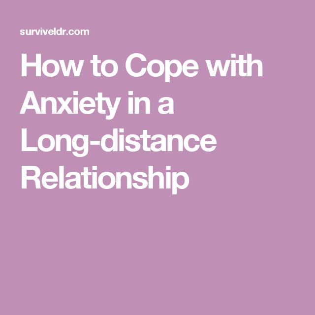 Coping with dating anxiety