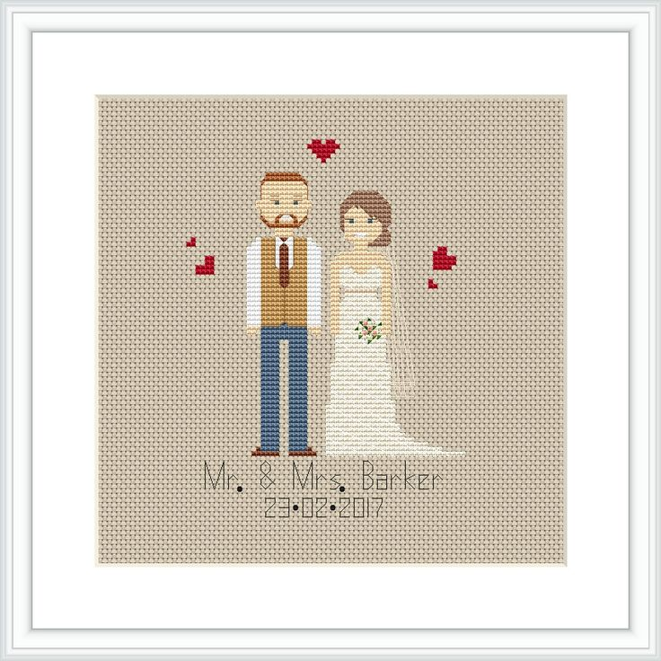Newlywed gift Personalised Cotton Anniversary Gift 2nd