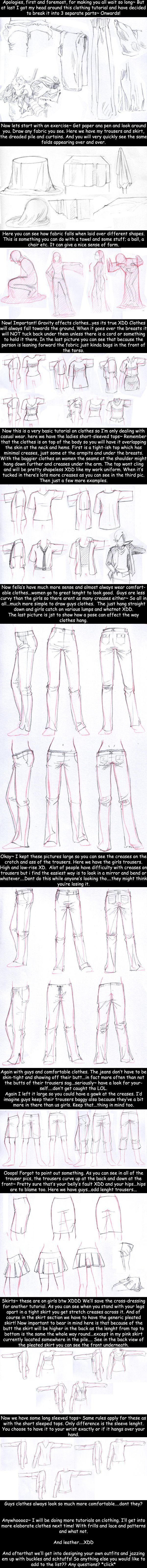 How to Draw - Tutorial: Clothes and Folds for Comic / Manga Panel Design Reference: