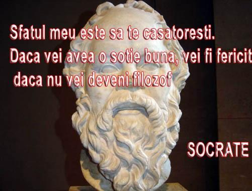 Sfatul meu este sa te casatoresti. Daca vei avea o sotie buna, vei fi fericit daca nu, vei deveni filozof  #CitatImagine de +Socrate  Vezi mai multe #citate @ http://citatemaxime.ro/  #DespreCasatorie, #DespreIubire, #DespreRelatii, #Haioase #Socrate  Iti place acest citat? ♥Like♥ si ♥Share♥ cu prietenii tai.