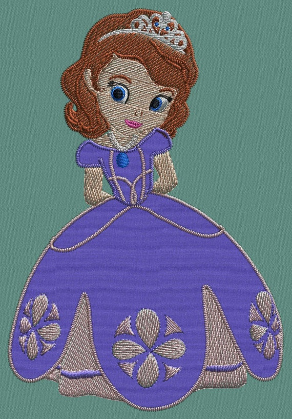 Sofia the first Applique embroidery