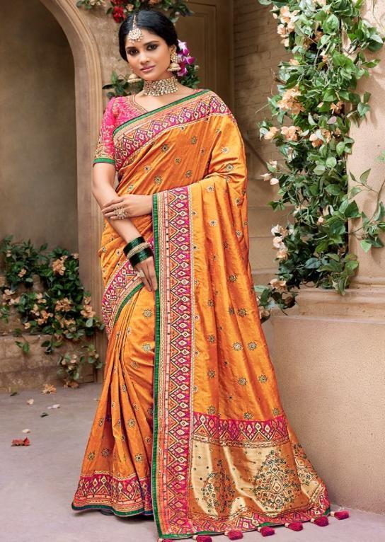 67d5fa1e7232bc Mn Sarees Designer Gorgeous Benarasi Pure Silk Saree in 2019