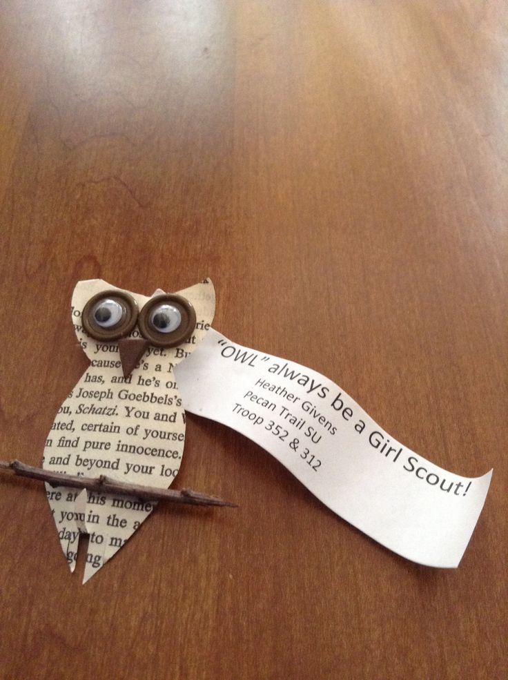 make one out of felt instead so it will alst in the weather - OWL always be a Girl Guide (SOAR is a comin')