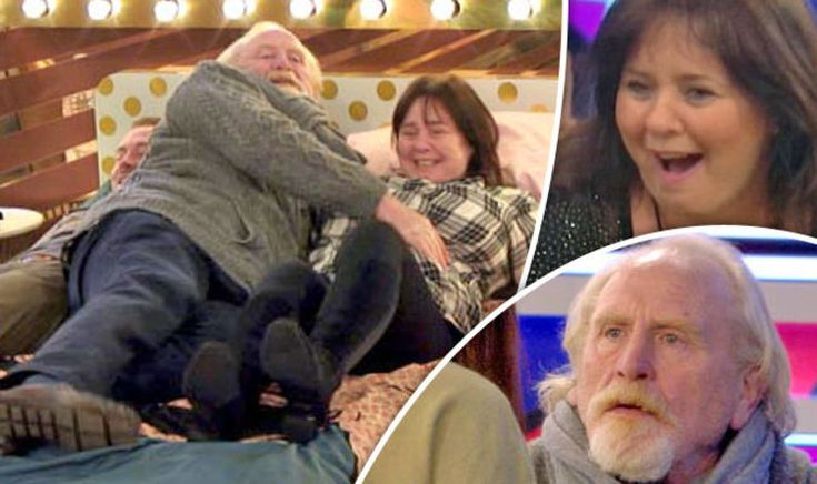 CELEBRITY BIG BROTHER'S James Cosmo snuggled up with Coleen Nolan during tonight's episode. DYING!