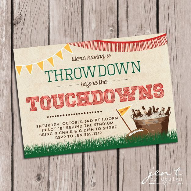 Tailgate Party Invitations — Jen T. by Design