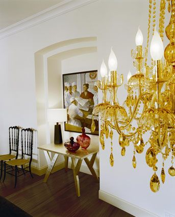 9 best chandelier graphic images on pinterest brand identity yellow chandelier kate hume aloadofball Image collections
