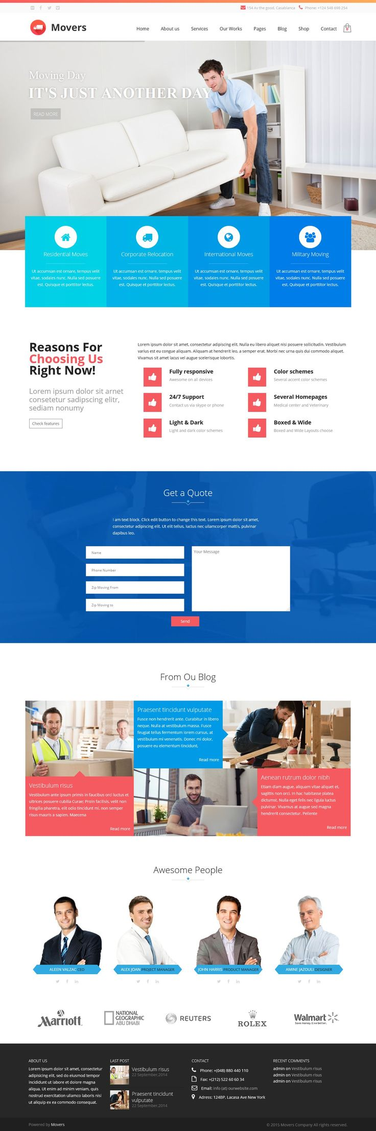 Mover is a theme for moving company, fully responsive #WordPress theme. The Theme is powered by #Zurb Foundation Framework and can be a base for any kind of #website project.