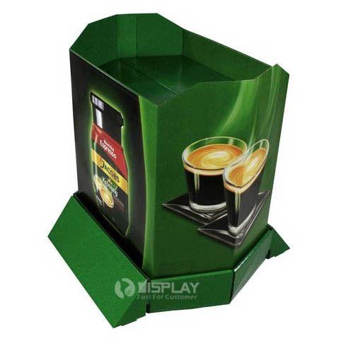Custom Corrugated Cardboard Advertising Pallet Display For Coffee