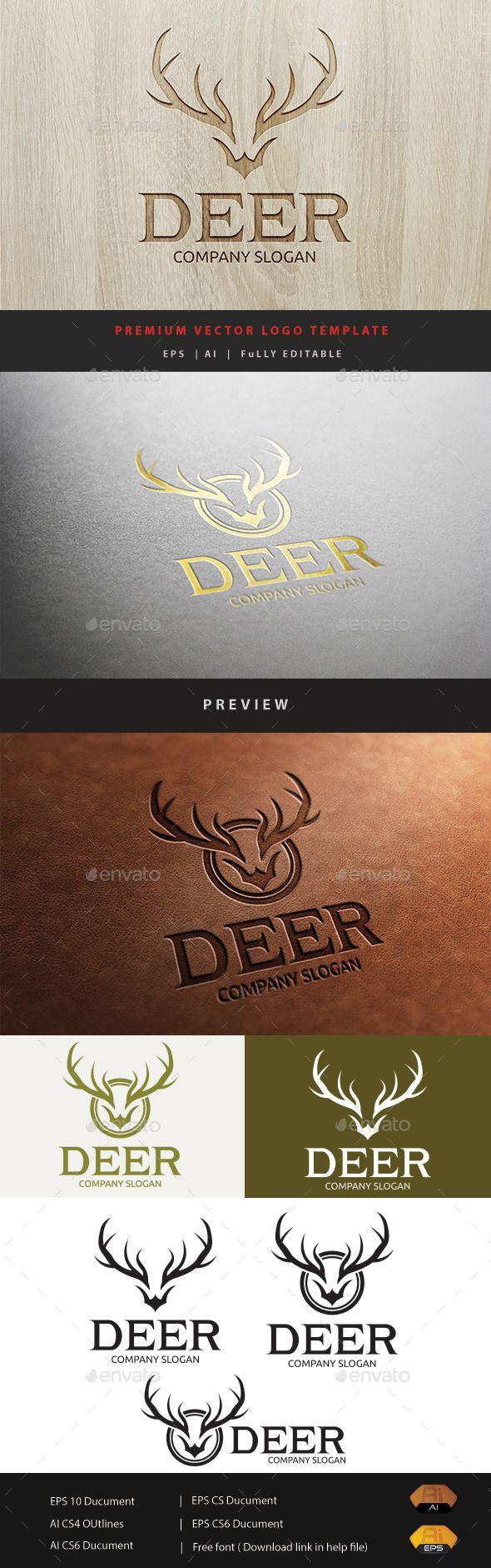 Deer Logo Template Vector EPS, AI #logotype Download: http://graphicriver.net/item/deer-logo/11297355?ref=ksioks