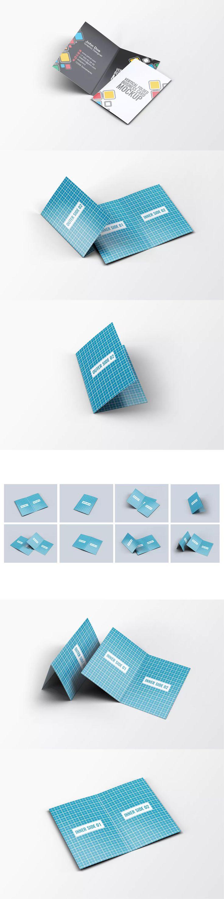 Best 25 folded business cards ideas on pinterest pop up vertical folded business card mock up magicingreecefo Gallery