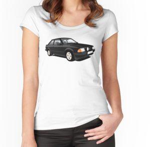 Ford Escort Mk3 black t-shirts on Reddbubble.   #ford #fordescort #escortmk3 #escort #fordescortmk3 #auto #cars #automobile #automobiletshirts #tshirt #tshirts #hothatch #80s #1980s #carillustration