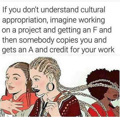 Exactly. Just like these white poeple out here judging us, but wearing our hairstyles, and look so CRZY!