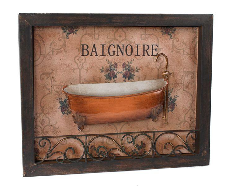 Set De Baño Souvenirs:Set de 2 cuadros de Metal Baño