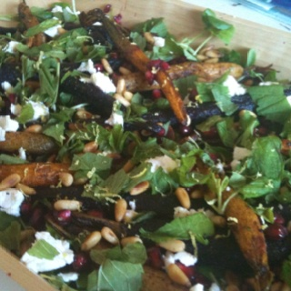 Roasted heirloom carrot salad