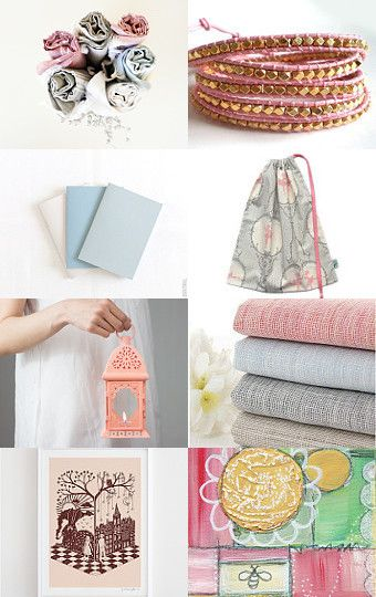 """A very sweet treasury called """"This put a smile on my face"""" featuring Little Alligator's ballet bag by Cari on Etsy"""