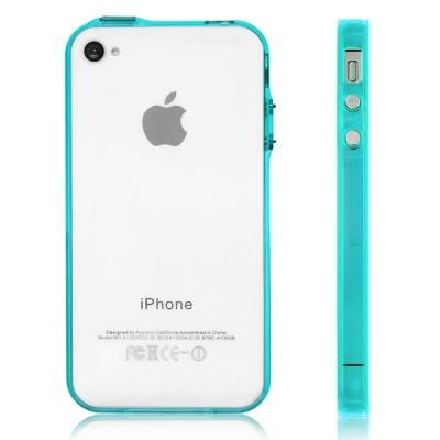 Cheap Iphone 4 Green Case - Premium Bumper Case for Apple iPhone 4 and iPhone 4S