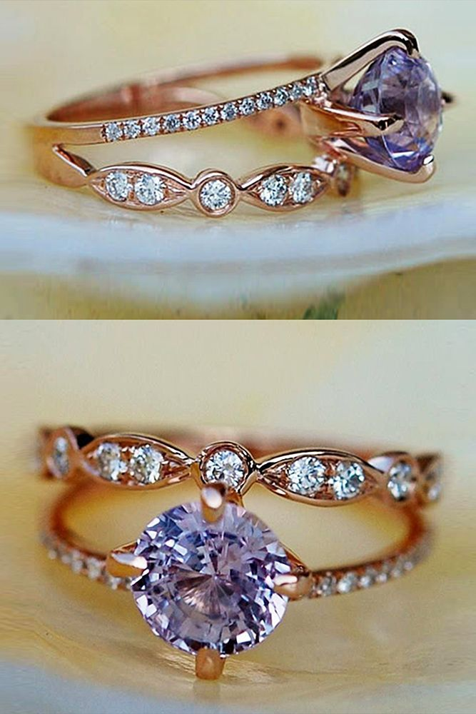 24 Sapphire Engagement Rings By Eidel Precious ❤️ eidel precious engagement rings rose gold round cut solitaire wedding set sapphire ❤️ See more: http://www.weddingforward.com/eidel-precious-engagement-rings/ #weddingforward #wedding #bride