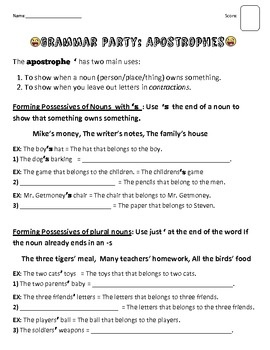 ... possessive nouns? Try this handout on for size. | Pinterest | Poss