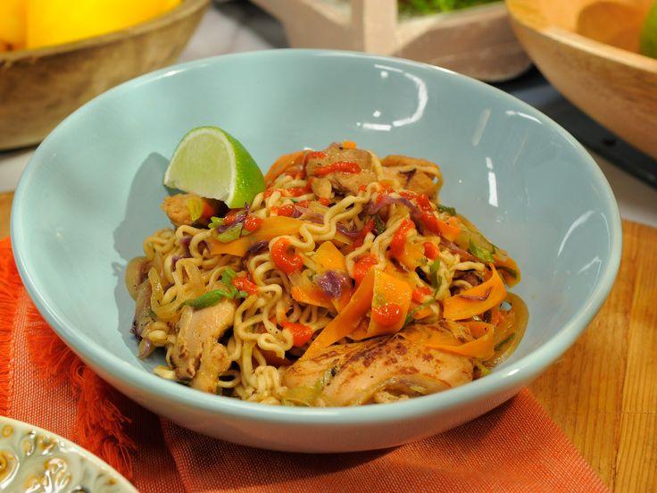 Chicken Ramen Stir-Fry recipe from Katie Lee via Food Network