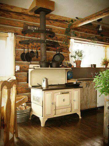 Rustic Vintage kitchen .... With Cast Iron