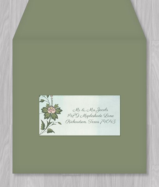 watercolor flowers address label template