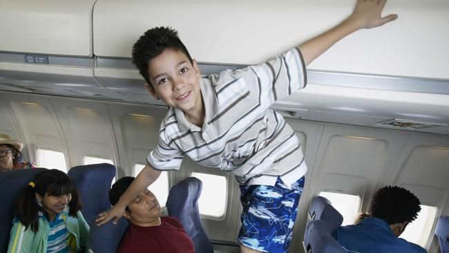 PEOPLE who recline their seats as far as they'll go and travellers with uncontrollable children have topped a poll of the most hated passengers when flying.