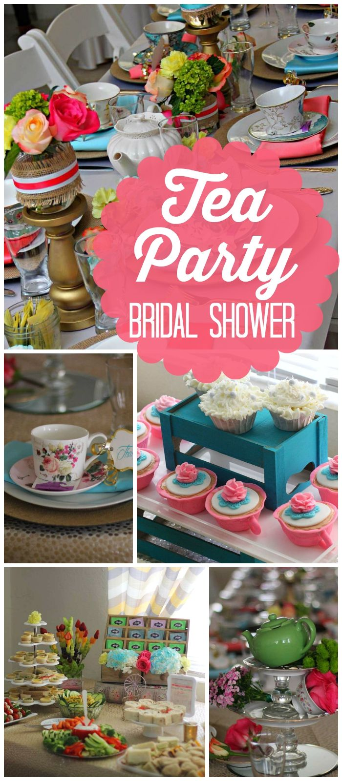 bridal shower teparty decorations%0A Love the flowers at this bridal shower tea party  See more party ideas at  CatchMyParty