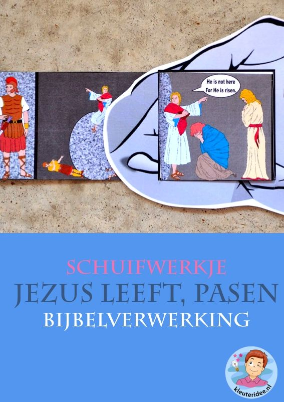 Pasen, Jezus leeft, open graf 3 , knutselen verwerking, kindergarten ressurrection craft, free printable, kleuteridee