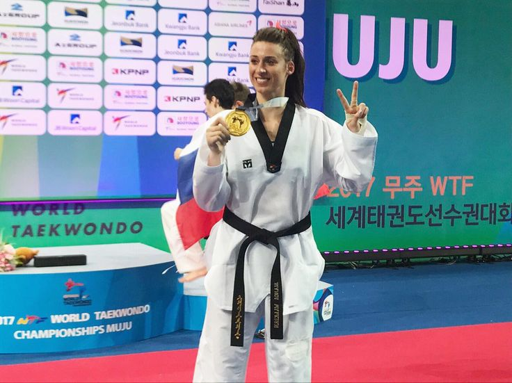 June 29 2017 - Bianca Walkden becomes first British Taekwondo star to defend a World Championship crown with +73kg gold in Muju